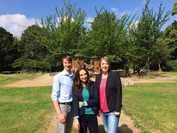Unsere KandidatInnen für die BVV: Bertram Schwarz, Tannaz Falaknaz und Alexandra Wend